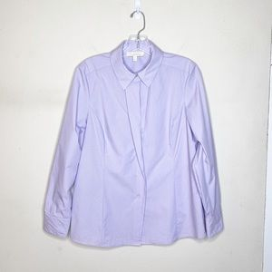 Etcetera Purple Button Up Dress Shirt Size 12